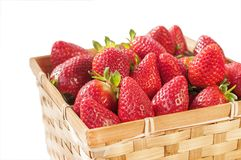 Strawberry Basket isolated on white Royalty Free Stock Photo