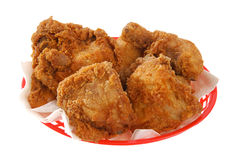 Basket of fried chicken Stock Photo