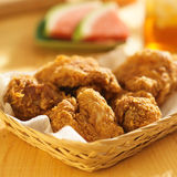 Basket of fried chicken Stock Image