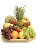 Basket of fruit stock images