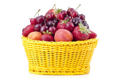 Basket with fruit Royalty Free Stock Photography