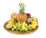 Basket of fruit Royalty Free Stock Photos