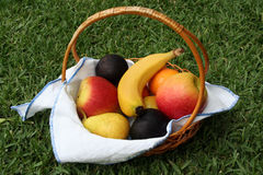 Basket with fruit Royalty Free Stock Images