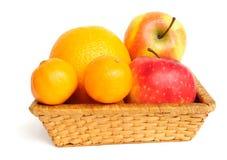 Basket with fruit Royalty Free Stock Photo