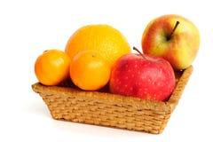 Basket with fruit Stock Image