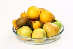 Basket of fruit. Assortment background Stock Photo