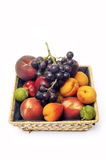 Basket of fruit isolated Stock Image