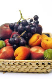 Basket of fruit isolated Royalty Free Stock Photography