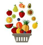 Basket of fruit Royalty Free Stock Photo