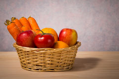 Basket of fruit and vegetable Stock Photography
