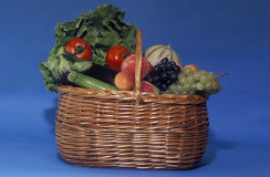 Basket of fruit and vegetables Royalty Free Stock Image