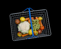 Basket with fruit and vegetables Royalty Free Stock Photos