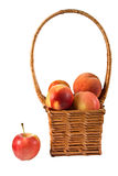Basket with fruits. Royalty Free Stock Image