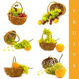 Basket with fruits Stock Photos