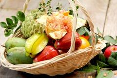 Basket of  fruits Stock Photography