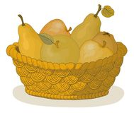 Basket with fruits Royalty Free Stock Photography