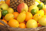 Basket with fruits Royalty Free Stock Image