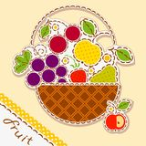 Basket fruits Stock Photo