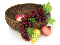 Basket with fruits Stock Photography