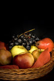 Basket with fruits Royalty Free Stock Photo