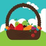 Basket fruits design Royalty Free Stock Photo