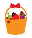 Basket fruits design Stock Images