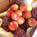 Basket of fruits Stock Images