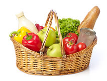 Basket with fruits and vegetable Stock Photography