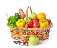 Basket with fruits and vegetable Royalty Free Stock Image
