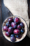 Basket full of autumn fruits Stock Images