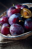 Basket full of autumn fruits Royalty Free Stock Image