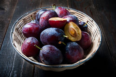 Basket full of autumn fruits Royalty Free Stock Photo