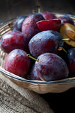Basket full of autumn fruits Stock Photo