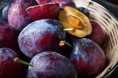 Basket full of autumn fruits Stock Photography