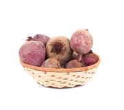 Basket full of beetroots. Stock Photography