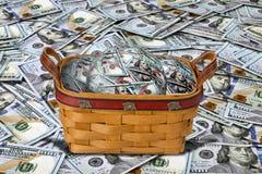 Basket full of Cash. Stock Photos