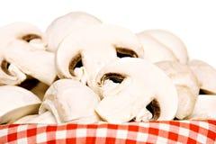 Basket full of champignon mushrooms Stock Photography