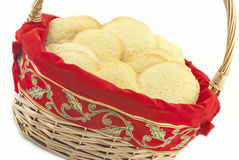 Basket Full Of Christmas Sugar Cookies Stock Photography