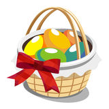 A basket full of Easter eggs Royalty Free Stock Photography