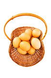 Basket full of eggs Royalty Free Stock Photo