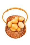 Basket full of eggs Royalty Free Stock Photo