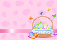 Easter Basket Background Stock Photos