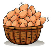 A basket full of eggs Royalty Free Stock Photo