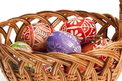 Basket full of Ester Eggs Stock Image