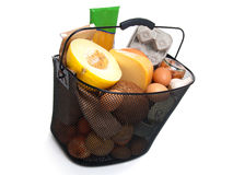 Basket full of fresh food Stock Photography