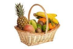A basket full of fresh fruit Stock Photo