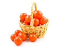 Basket full of fresh healthy tomatoes Royalty Free Stock Photos