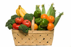 Basket Full Of Fresh Picked Produce Royalty Free Stock Photos