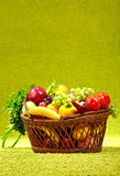 Basket full of fresh produce. Royalty Free Stock Image
