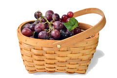 Basket Full of Fruit Grapes Royalty Free Stock Images